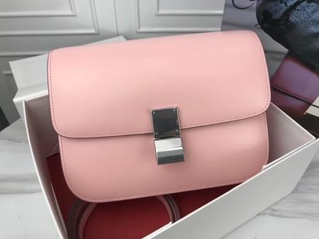 Celine Classic Box Flap Bag Original Calfskin Leather 3378 Pink