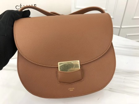 Celine Compact Trotteur Original Calfskin Leather 1269 Brown