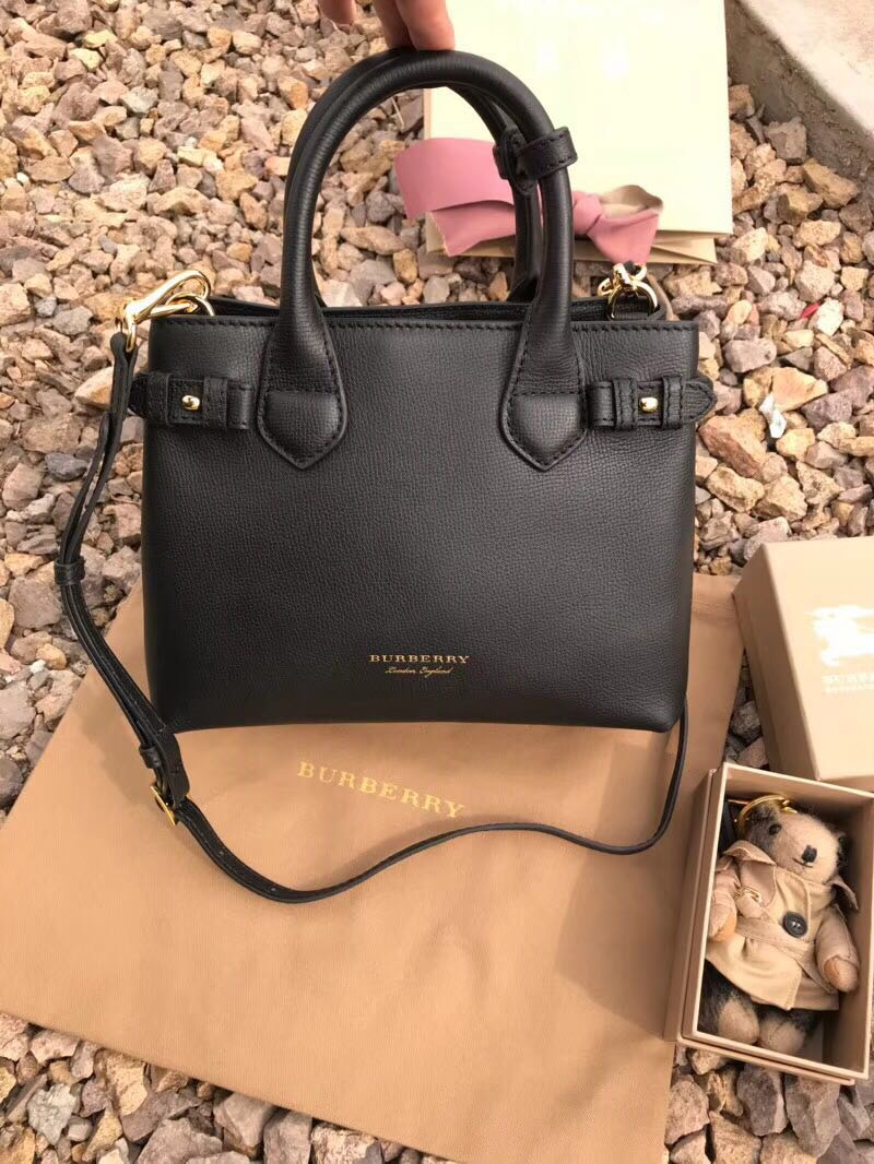BurBerry Leather Tote Bag 5560 black