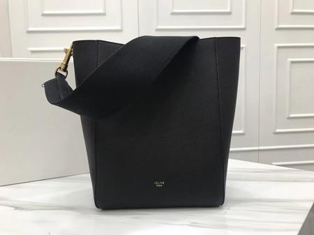 Celine Cabas Phantom Bags Original Calfskin Leather 3370 Black