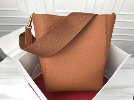 Celine Cabas Phantom Bags Original Calfskin Leather 3370 Brown