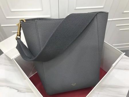 Celine Cabas Phantom Bags Original Calfskin Leather 3370 Dark Grey