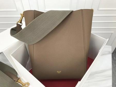 Celine Cabas Phantom Bags Original Calfskin Leather 3370 Khaki