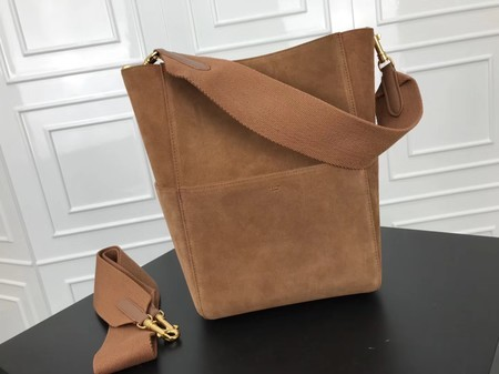 Celine SEAU SANGLE Cabas Bags Original Nubuck Leather 3369 Brown
