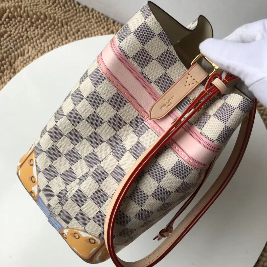 Louis Vuitton Damier Azur Canvas  original bag neonoe M44020