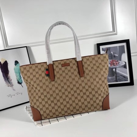 Gucci GG canvas shoulder bag 308928 apricot