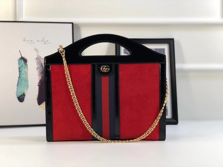 Gucci GG original suede leather ophidia Tote Bag 512957 red