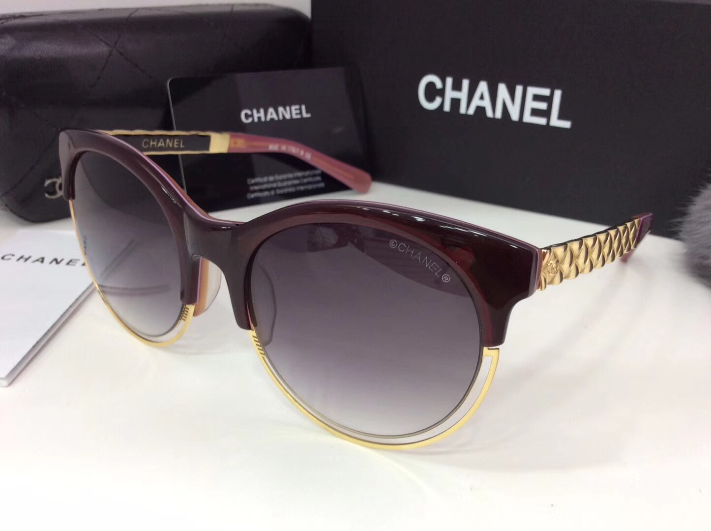 Chanel Newest Fashion sunglasses top quality CC0065