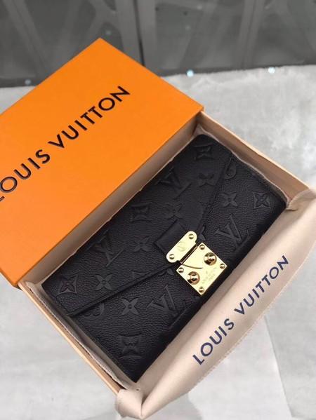 Louis Vuitton Monogram Empreinte PALLAS WALLET M62458 Black