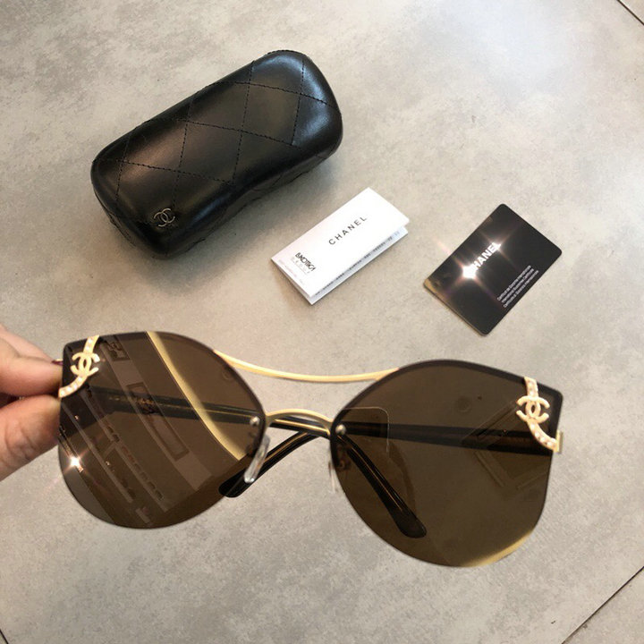 Chanel Newest Fashion Sunglasses Top Quality CC0177