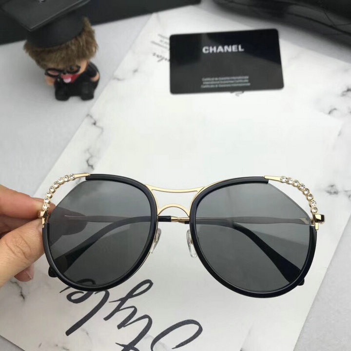Chanel Newest Fashion Sunglasses Top Quality CC0185