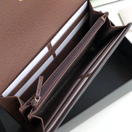 Gucci Calfskin Leather Wallet 523153 brown