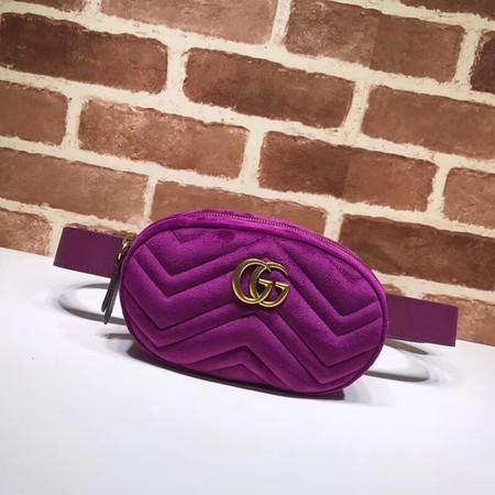 Gucci GG Marmont Velvet waist pack 476434 purple