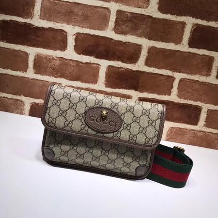 Gucci GG canvas supreme waist pack 489617 brown