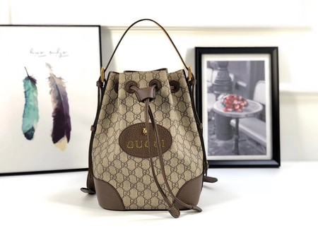 Gucci GG canvas ophidia supreme small shoulder bag PVC 473875 brown