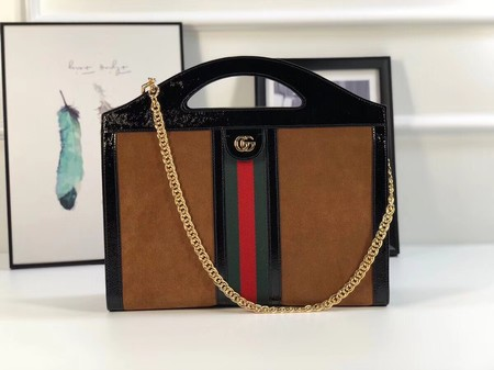 Gucci GG original suede leather ophidia Tote Bag 512957 Camel