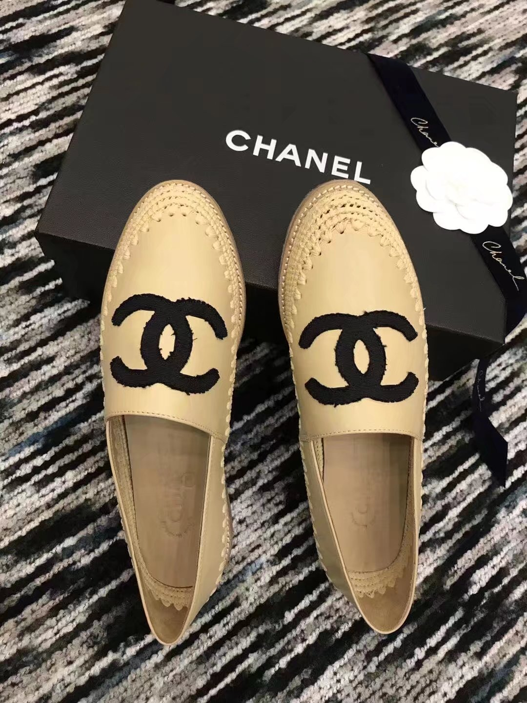 Chanel Casual Shoes CH2277LRF Apricot