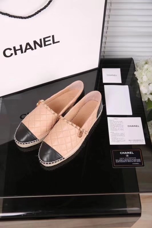 Chanel Casual Shoes CH2285TZ Apricot&Black