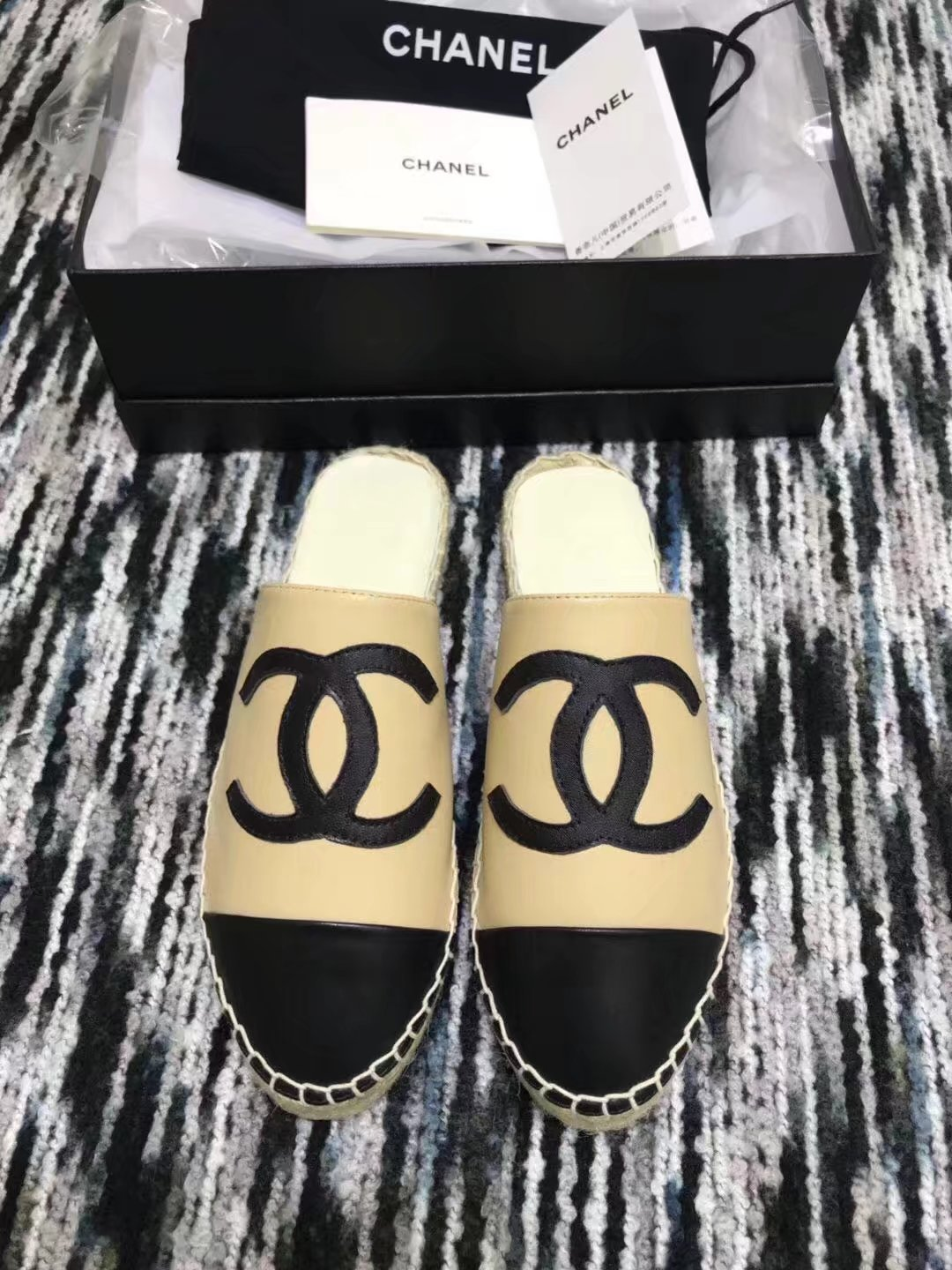 Chanel Slippers CH2287LRF Apricot