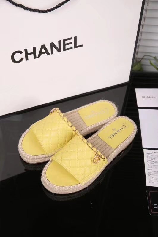 Chanel Slippers CH2283TZ yellow