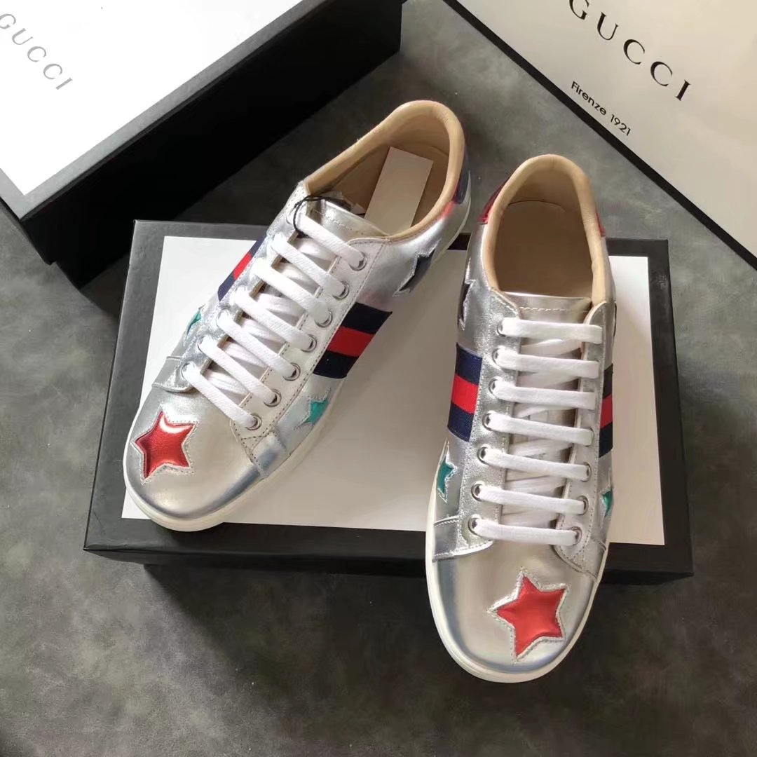 Gucci Lovers shoes GG13101 silver