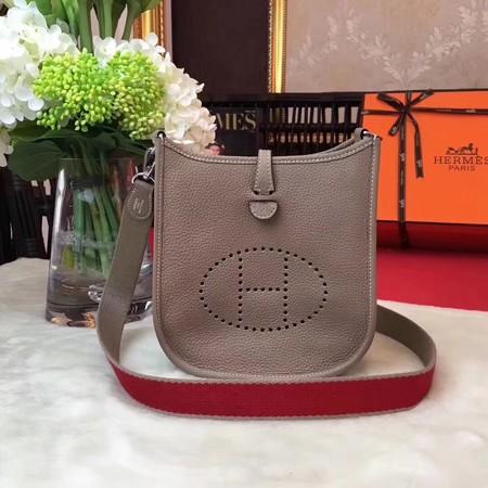 Hermes Evelyne mini 17cm Messenger Bag Original Calf Leather H1187 Light grey