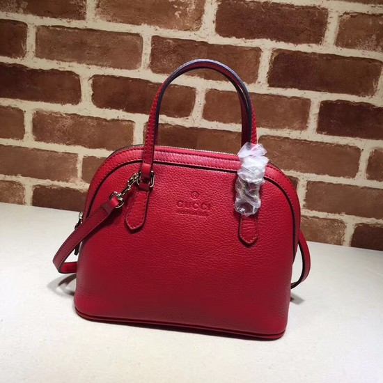 Gucci Calfskin Leather Small Tote Bag B341504 red