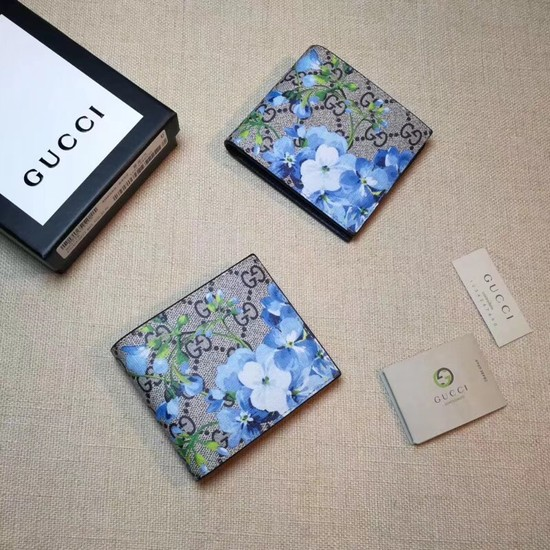 Gucci GG Supreme Canvas Wallet 451465 blue