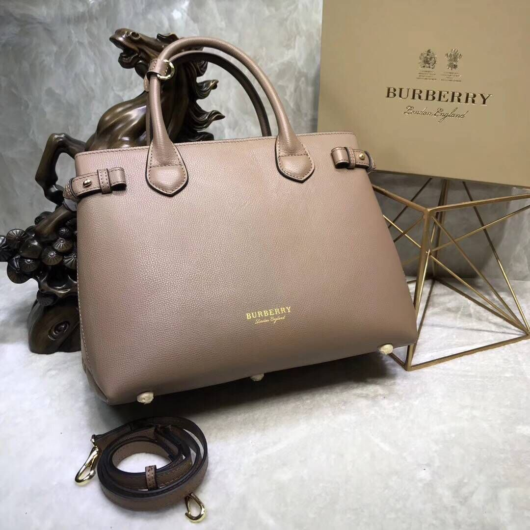 BurBerry Leather Tote Bag 5559 apricot