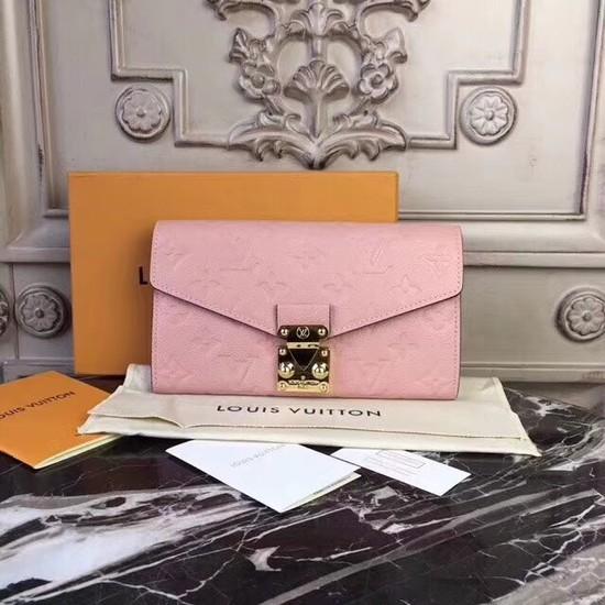 Louis Vuitton Monogram Empreinte PALLAS WALLET M62458 pink