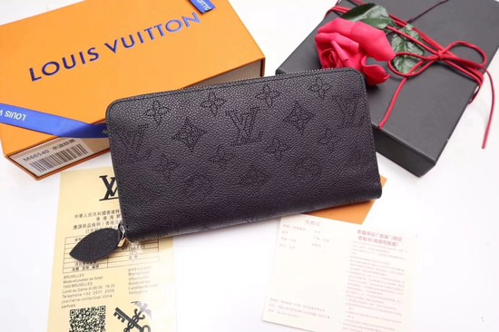 Louis Vuitton Mahina Leather Wallet 61867 Black