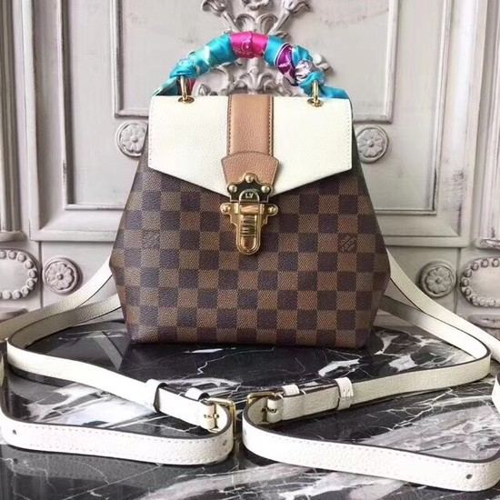 Louis vuitton hot springs backpack Original leather CLAPTON 42259 cream