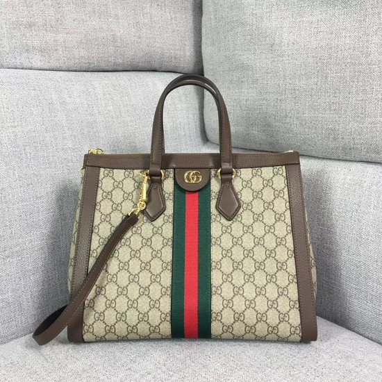Gucci GG canvas ophidia top quality tote bag 524537 brown