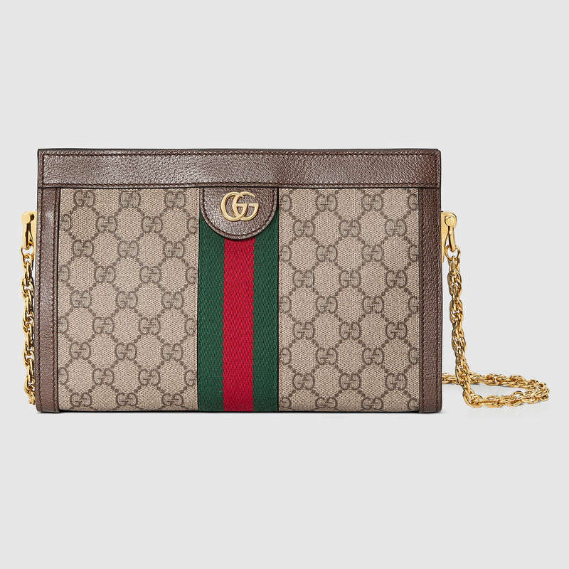 Gucci Ophidia GG Small Shoulder Bag 503876 Brown