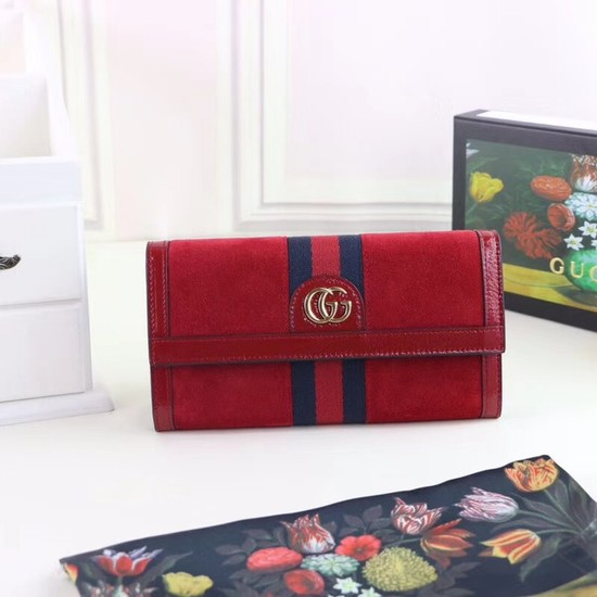 Gucci Ophidia continental wallet 523153 red