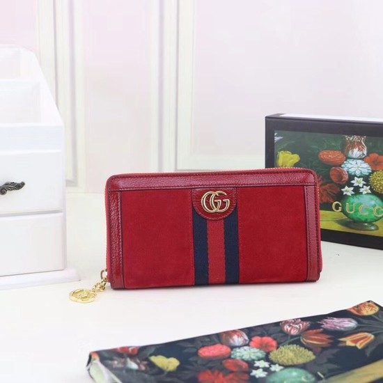 Gucci Ophidia continental wallet 523154 red