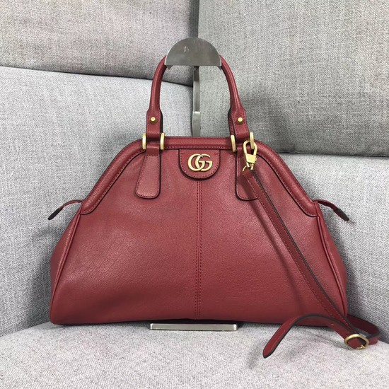 Gucci RE medium top handle bag Style ‎516459 red