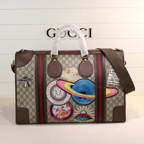 Gucci Courrier soft GG Supreme duffle bag 459291 brown