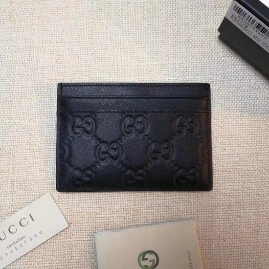 Gucci Signature leather card case 233168 black