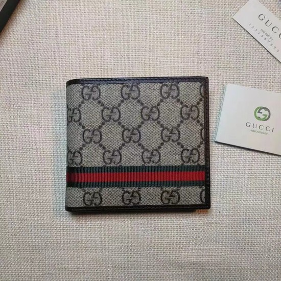 Gucci print GG Supreme wallet 138042 Chocolates
