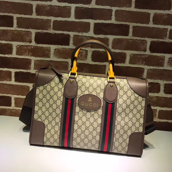 Gucci Courrier soft GG Supreme duffle bag 459311 brown