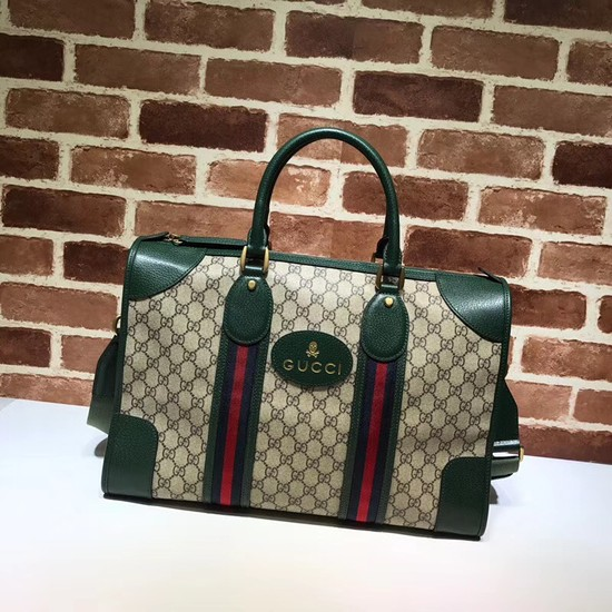 Gucci Courrier soft GG Supreme duffle bag 459311 green