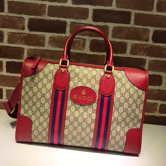 Gucci Courrier soft GG Supreme duffle bag 459311 red