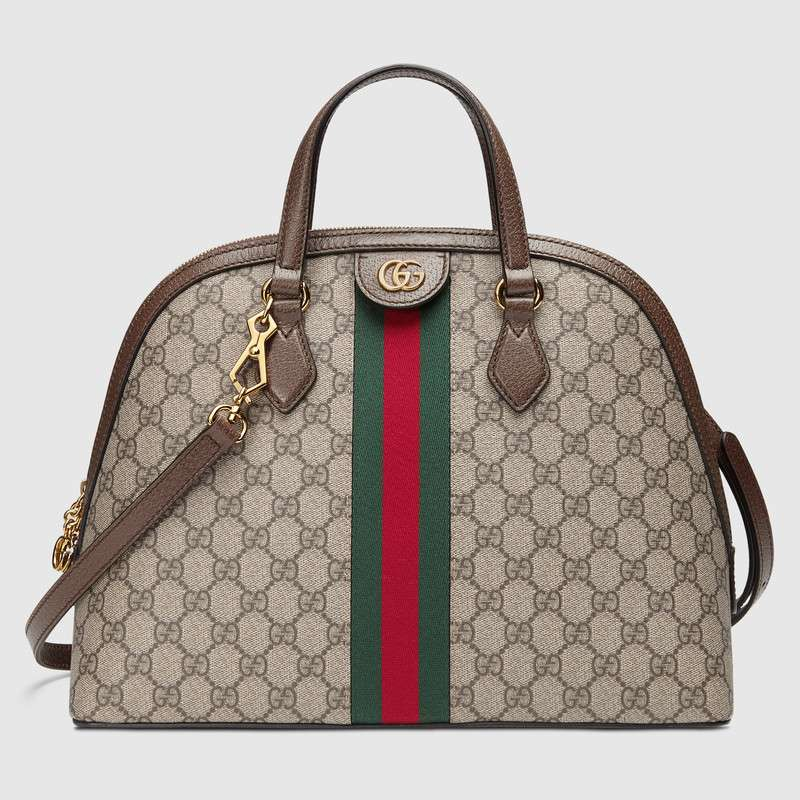 Gucci Ophidia GG medium top handle bag 524533 brown