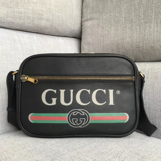 Gucci Print shoulder bag 523589 black