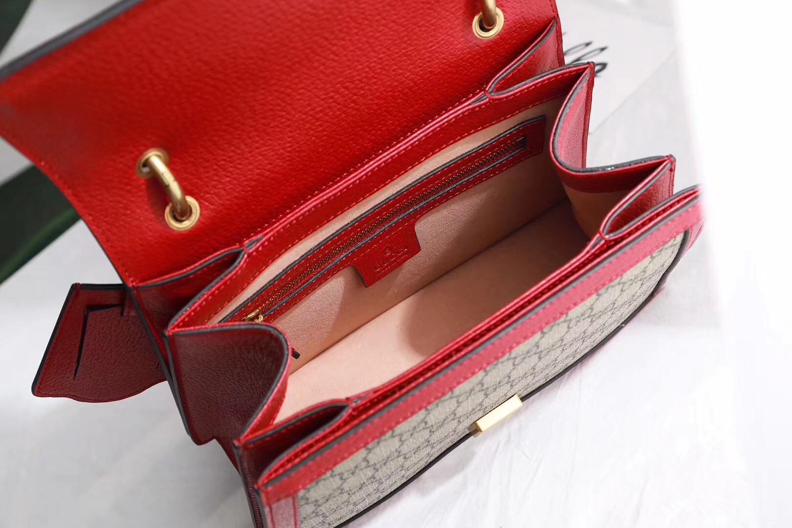 Gucci Queen Margaret GG small top handle bag 476541 red
