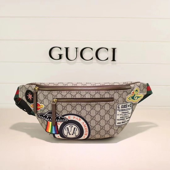 Gucci Night Courrier soft GG Supreme belt bag 529711 brown
