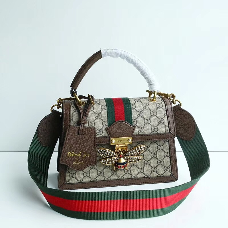 Gucci Queen Margaret GG small top handle bag 476541 brown