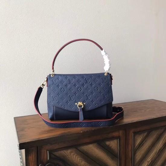 Louis Vuitton Monogram Empreinte BLANCHE M43618 Navy-blue