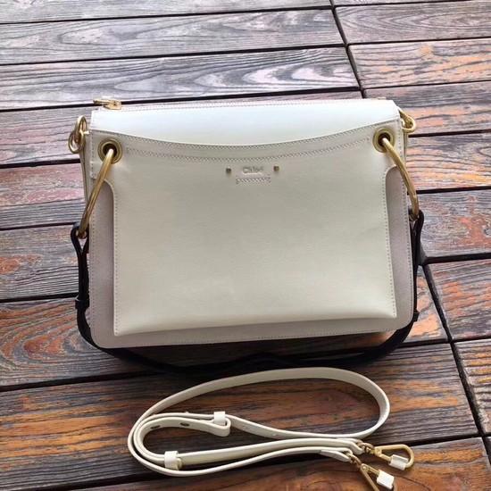 CHLOE Roy leather and suede Medium shoulder bag 20656 cream